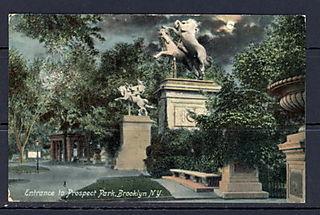 Moonlit horse statues