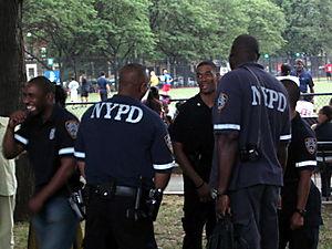 Happy cops