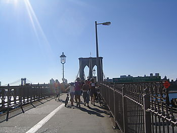 Bklyn Bridge biking 9-07