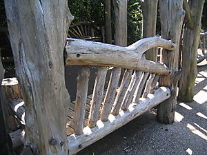 Lullwalk rustic bench 9-21