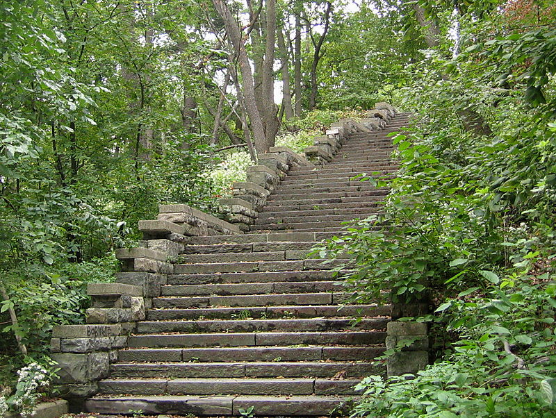 Lookout hill stairs 9-30