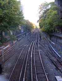 Brighton line tracks Prospect Park 10-31