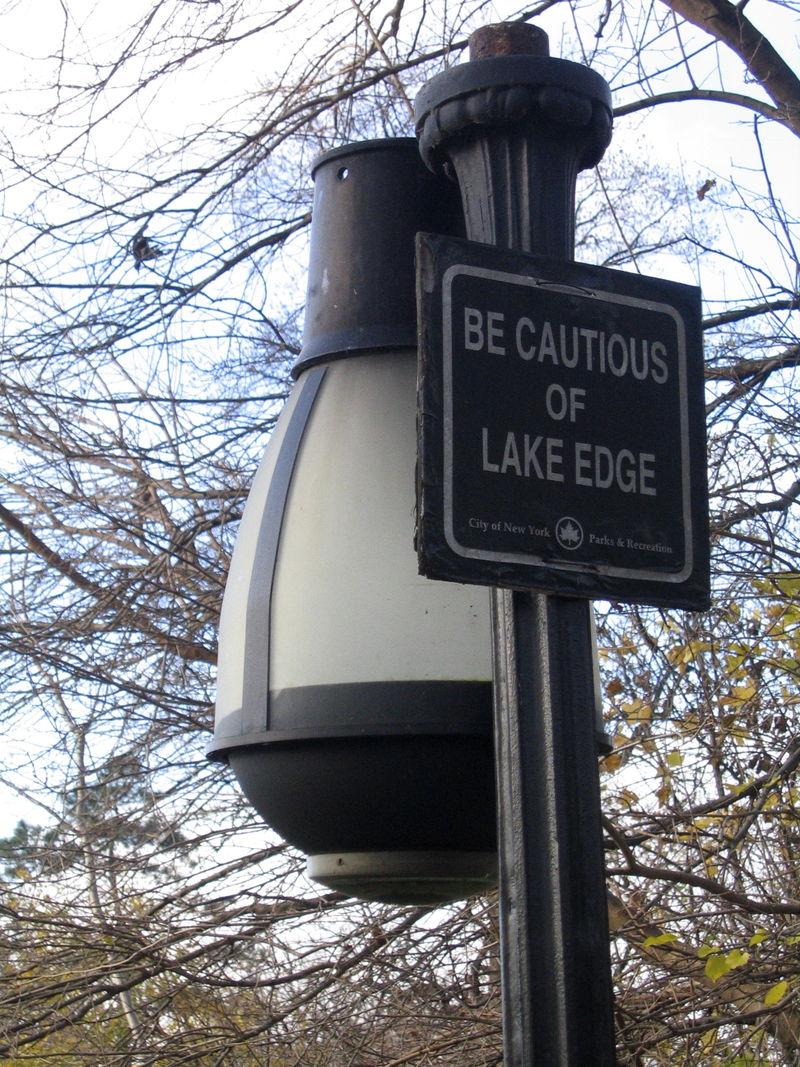 Cautious lake edge 11-18