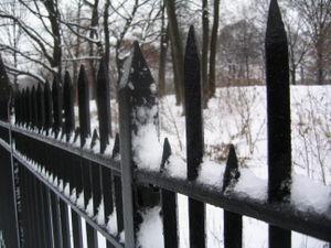 Snowy fence 12-19