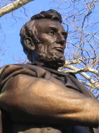 Lincoln statue detail