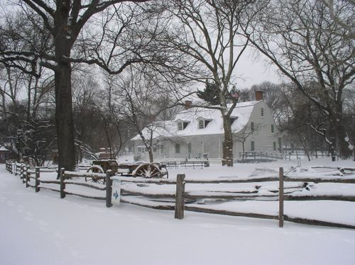 Lefferts House in snow