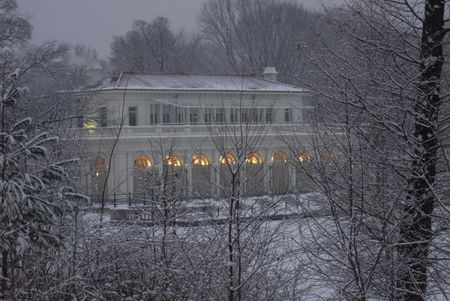 MR boathouse in snow