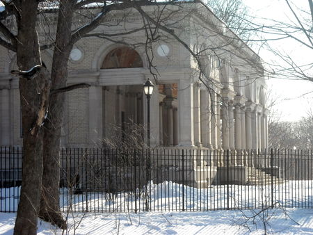 Tennis House in snow 3-4