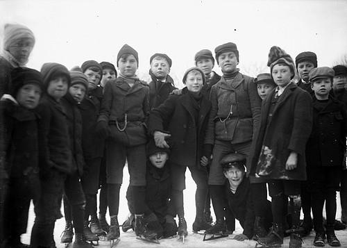 Boys skating 1890-1910
