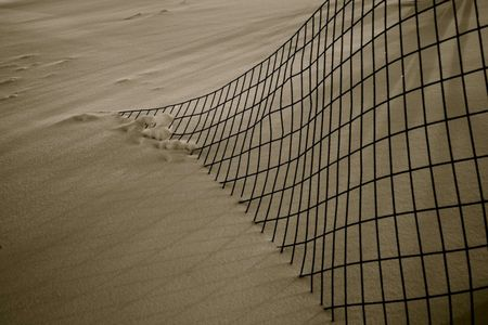 Fence in snow woerner