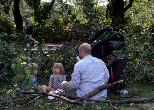 Kids & dad branches 9-18-10