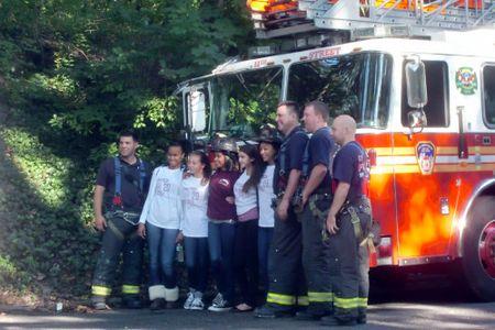 Walkathon w firemen 9-30-11