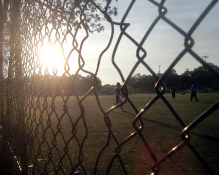 Soccer field sunset 9-26-11
