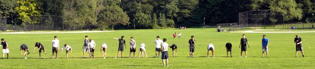 Frisbee lineup 9-13-12