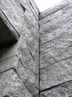 Lakeside granite walls 10-6-12