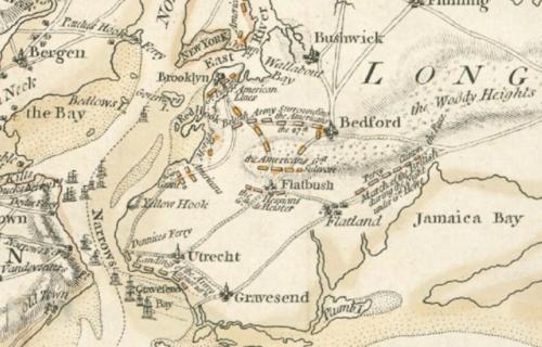 Battle of Brooklyn map 1776 NYPL