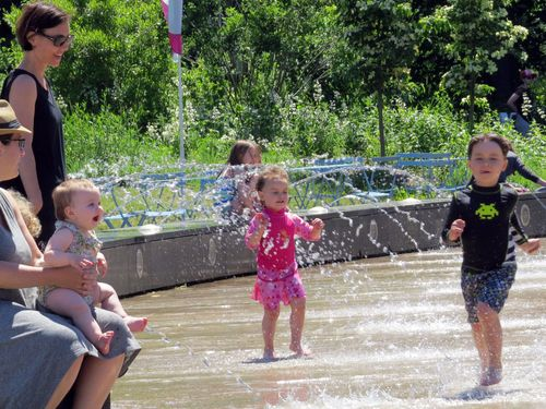 Splashpad baby and kids